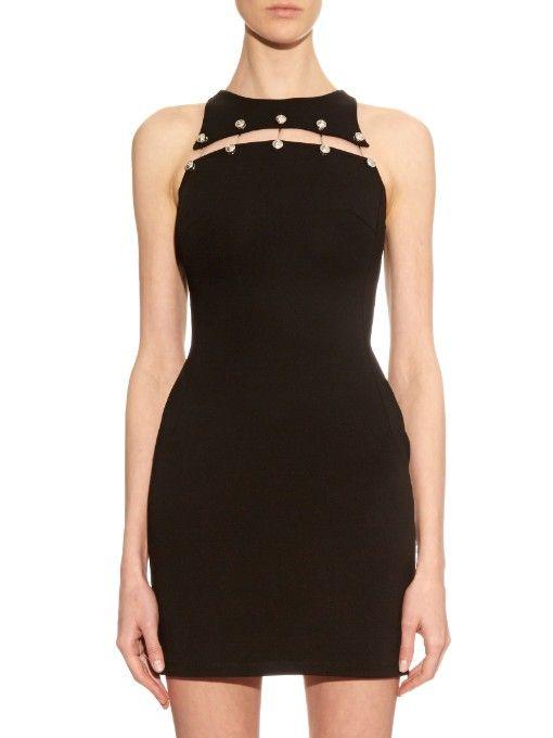 d6933861638 Versus Versace Cut-out stretch-cady mini dress