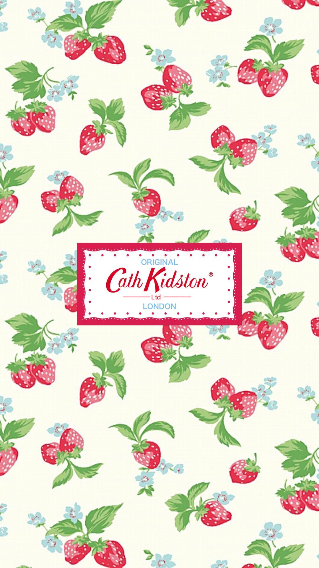 キャス キッドソン いちご デザイン 印刷 スマホ 壁紙 可愛い