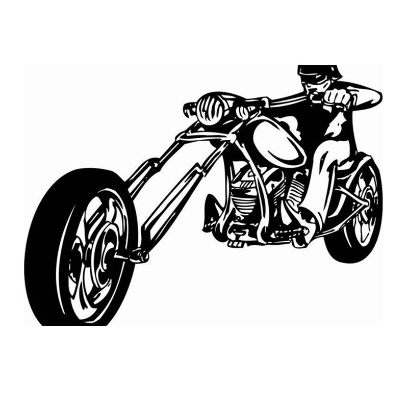 Motorcycle Sticker Vehicle Decal Classic Punk Posters Vinyl Wall - Classic motorcycle custom stickers