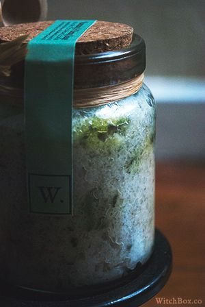 Rosemary Sage Salt Scrub for Cleansing Rituals // #pagan #witch