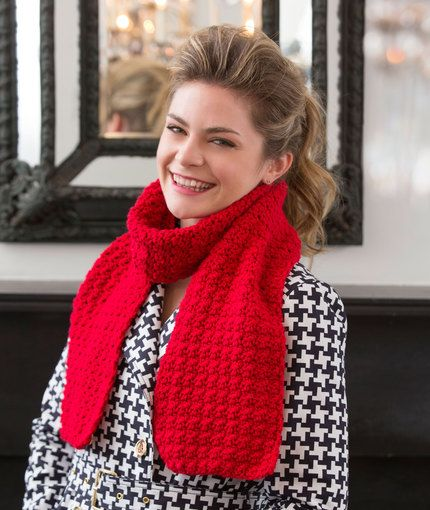 Berry Stitch Scarf Free Crochet Pattern from Red Heart Yarns ...