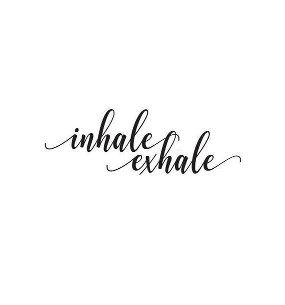 Inhale Exhale Wall Decal for Yoga Studio, mediation