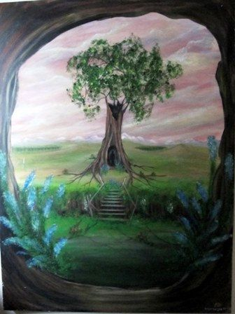 large acrylic painting 30in x 40in canvas by Aliceandgallery, $177.33