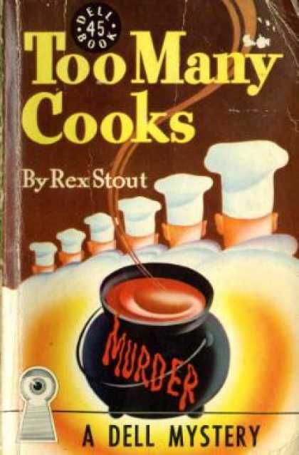 Too Many Cooks by Rex Stout - Cover art: Gerald Gregg