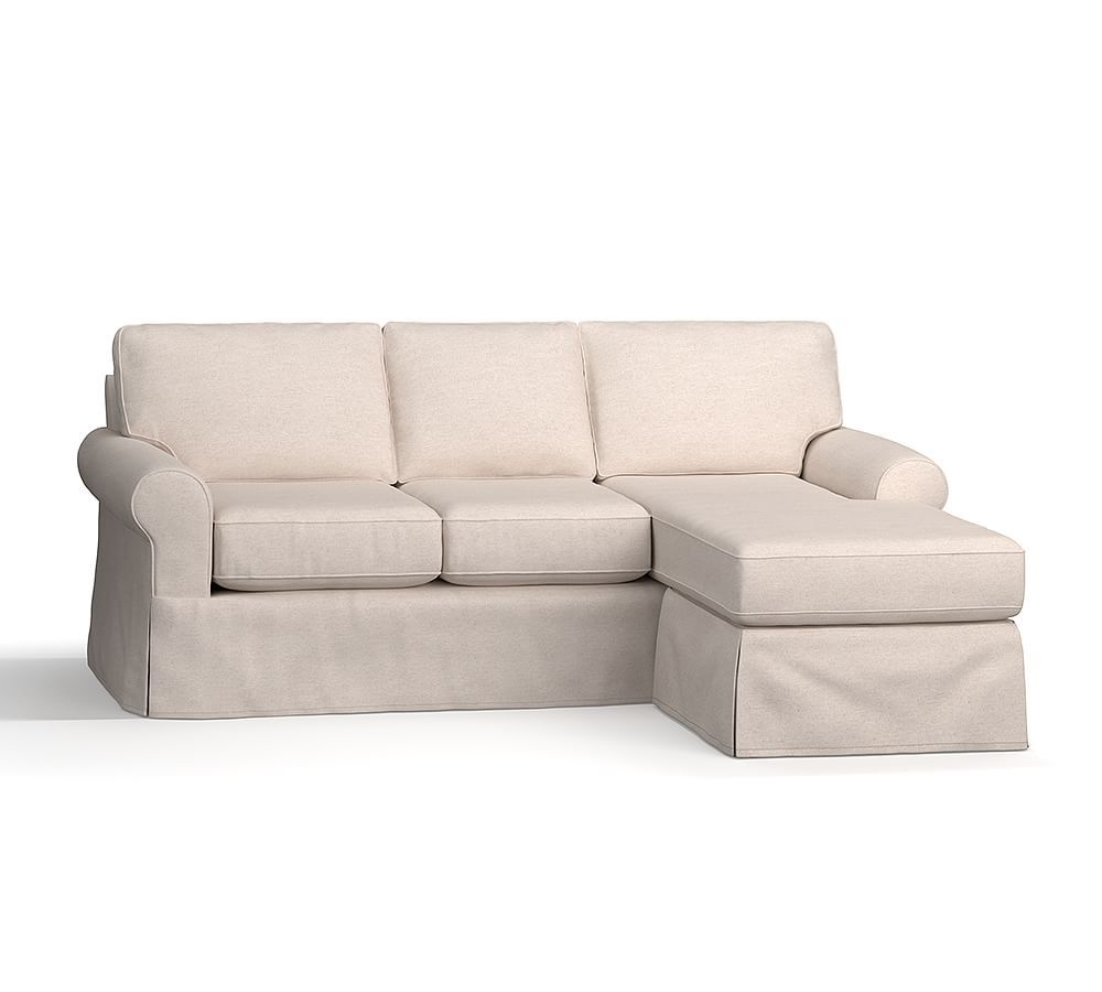 buchanan roll arm slipcovered sofa with reversible chaise sectional rh pinterest com