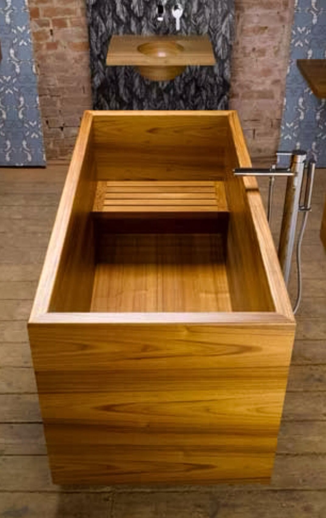 Japanese ofuro style bath in teak by William Garvey | Interiore in ...