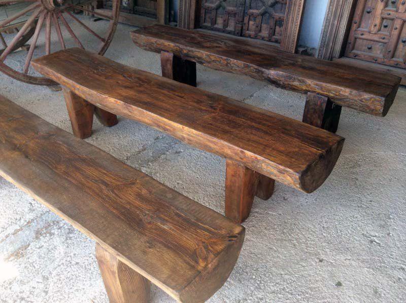 Banco de madera reciclado bancos de madera madera reciclada y bancos - Bancos de madera para banos ...