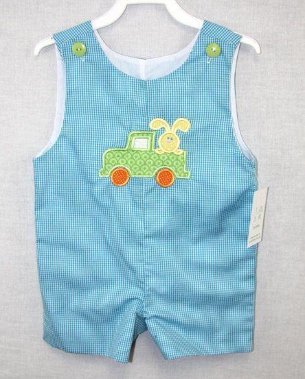 Easter Bunny Romper for Boy Babys First Easter Boy