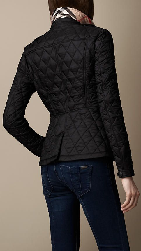 Fitted Diamond Quilt Jacket | Coats and Vests | Pinterest ... : diamond quilted jacket burberry - Adamdwight.com