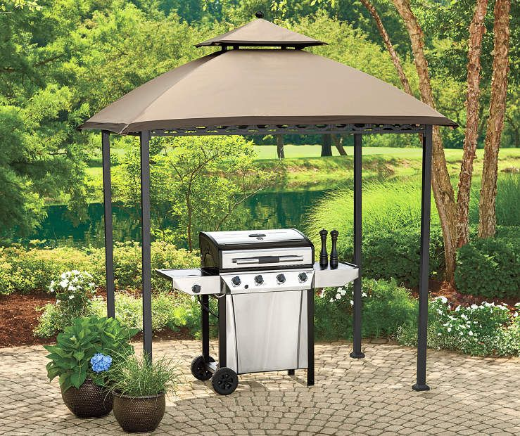 Wilson Fisher Pinehurst Small Space Grill Gazebo 8 X 5 Big Lots Grill Gazebo Small Backyard Landscaping Small Gazebo