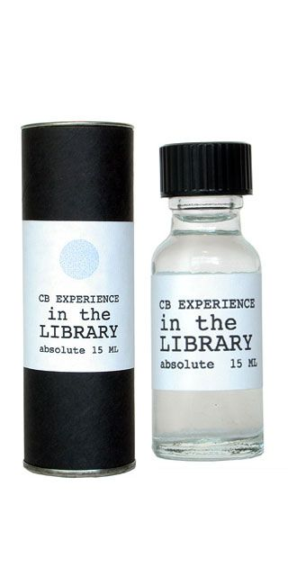 IN THE LIBRARY  Perfume Absolute - 15ml  English Novel taken from a Signed First Edition of one of my very favorite novels, Russian & Moroccan leather bindings, worn cloth and a hint of wood polish.    Hand crafted in small batches in the workshop of Christopher Brosius, NYC    Price: $70