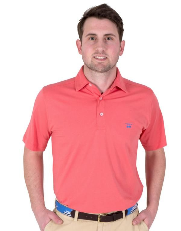 Super soft, classic fit polo made from 100% Pima cotton. Embroidered logo on left chest and gingham detailing.