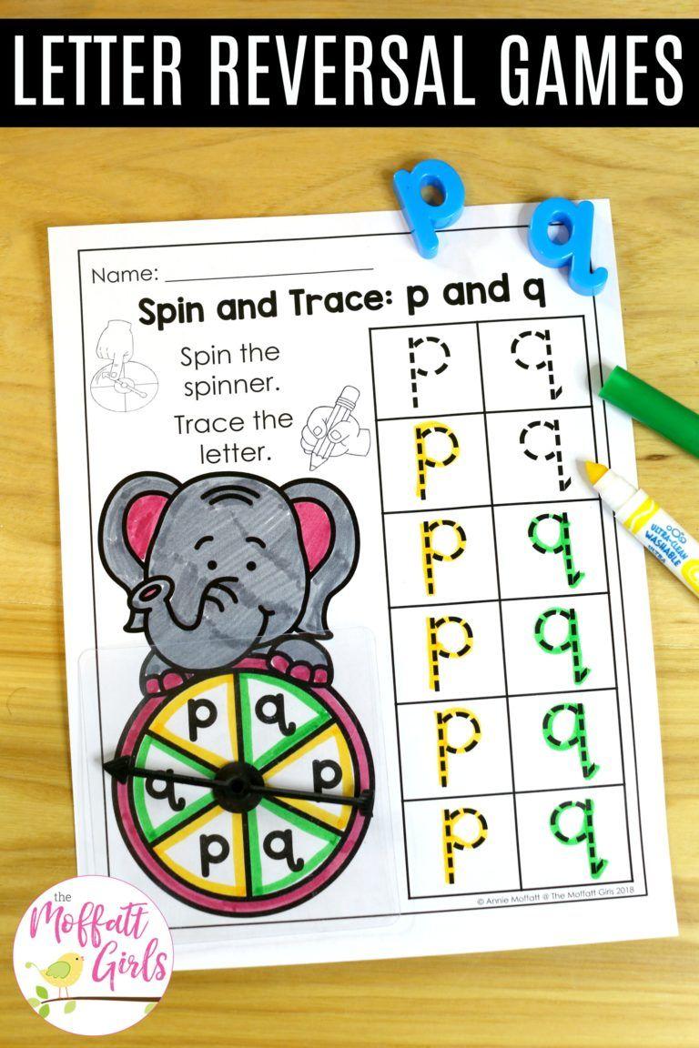 Letter Reversal Practice Beginning of kindergarten