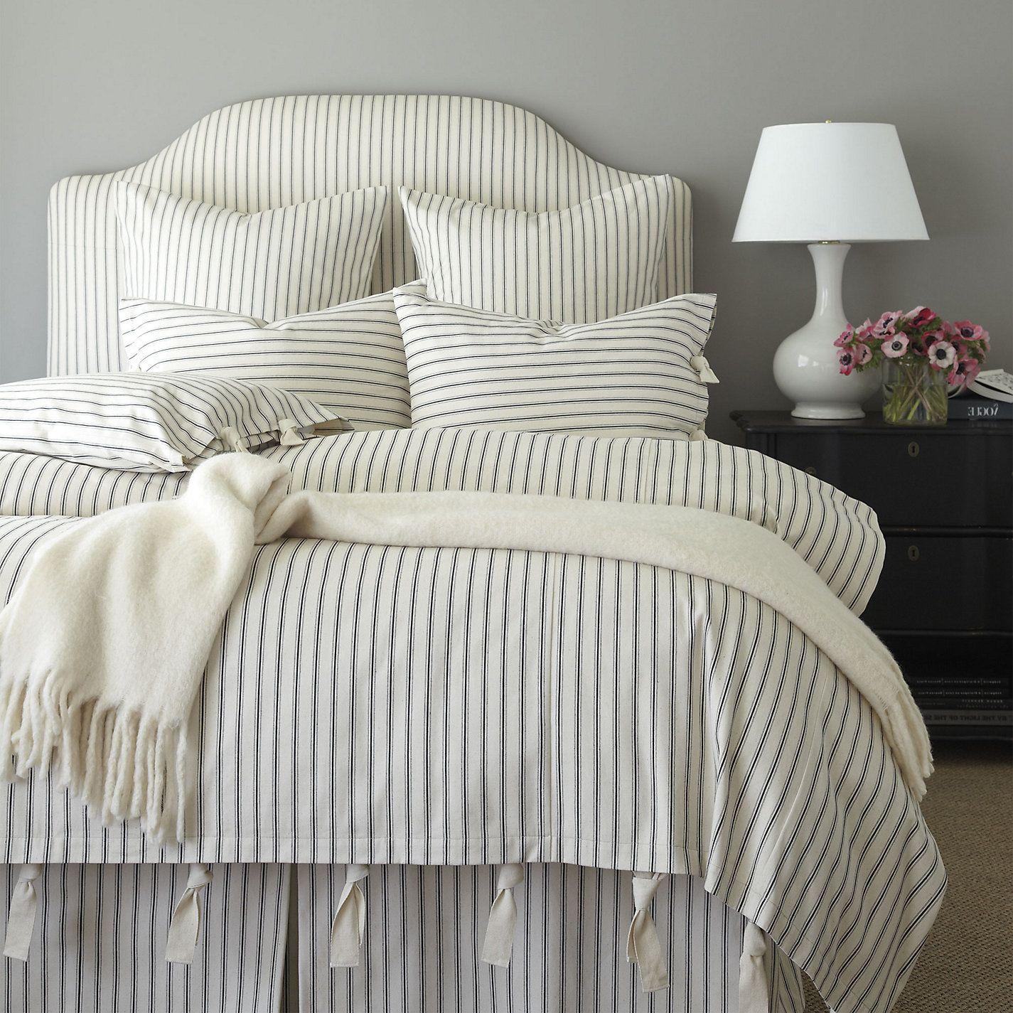 Ticking Stripe Duvet Navy Ballard Designs Ticking Stripe Bedding Bedroom Vintage Striped Bedding