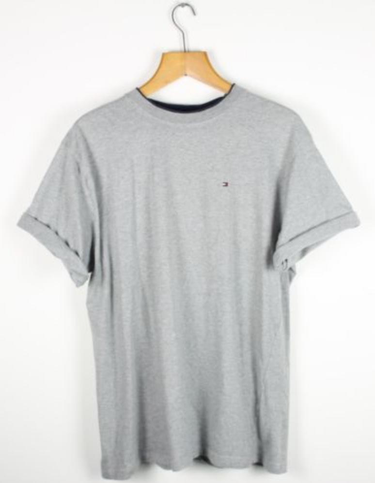 4be1cfc402d294 FOR SALE  Vintage TOMMY HILFIGER Grey T Shirt Tee