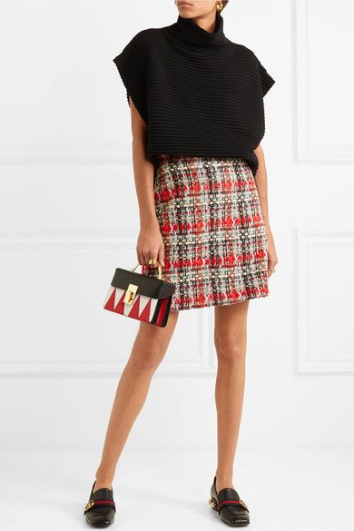 a6a723efff5 GUCCI beautiful Checked tweed mini skirt in 2019