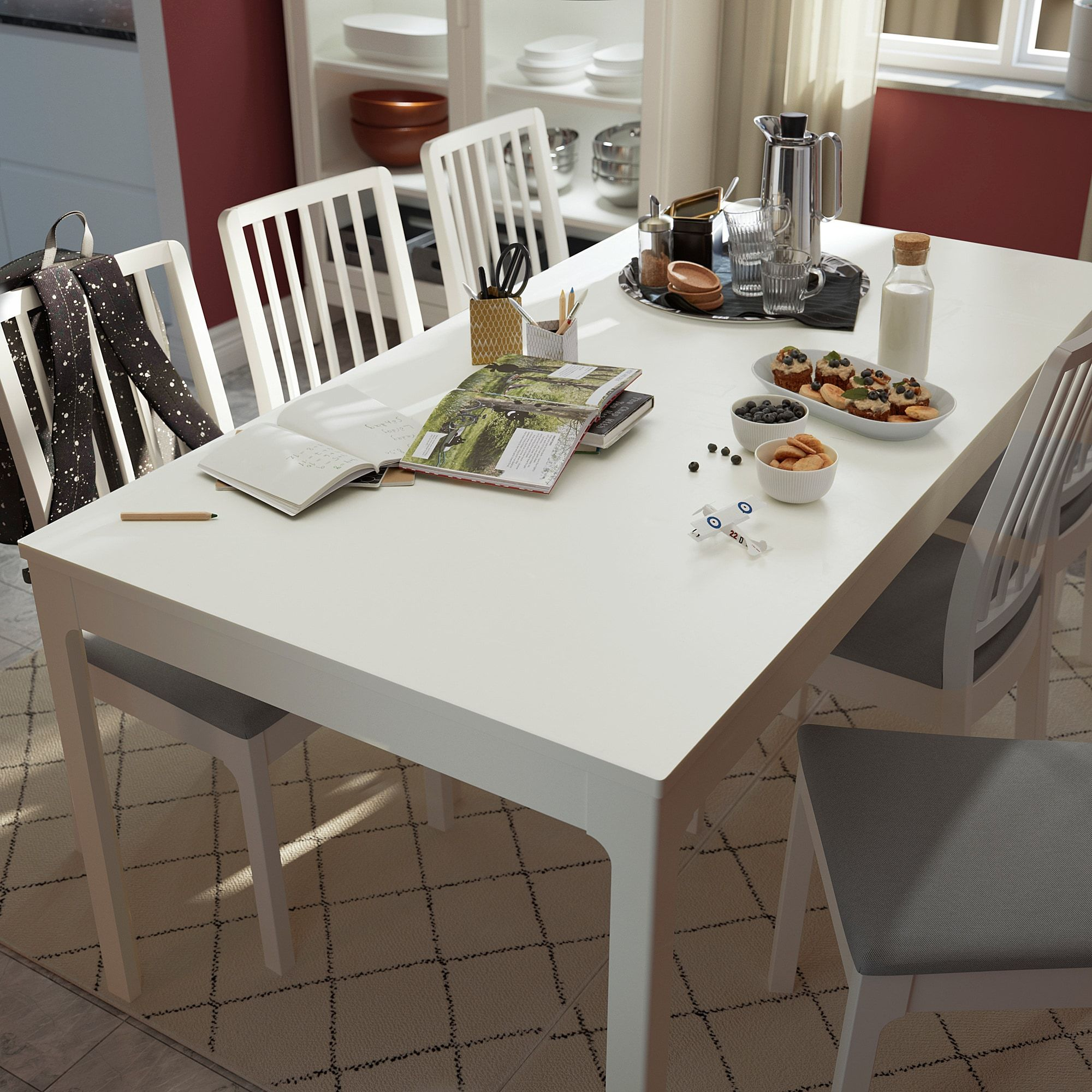 Ekedalen Extendable Table White 70 7 8 94 1 2x35 3 8 In 2020