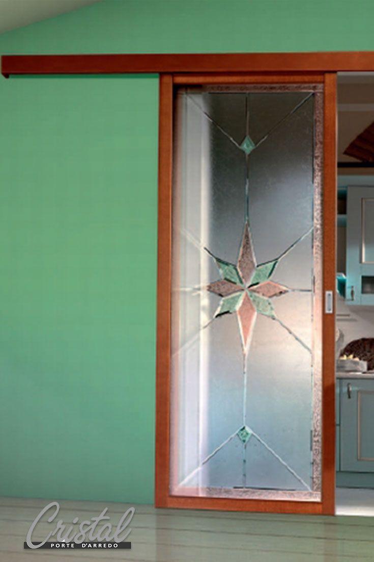 Porta scorrevole in vetro interno muro. Stipite e anta tanganica ...