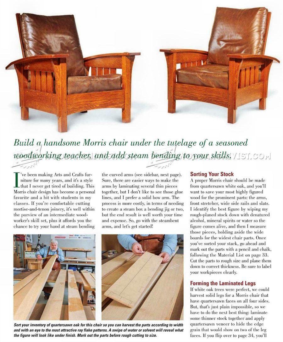 Classic Morris Chair Plans Morris Chair Game Room Chairs