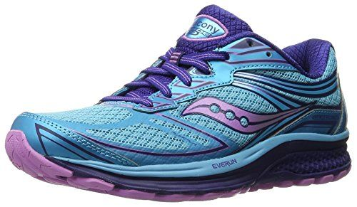 Saucony Women's Guide 9 Running Shoe, Blue/Purple/Pink, 9 M US: The guide 9  is a great support shoe that delivers smooth supportive guidance without ...