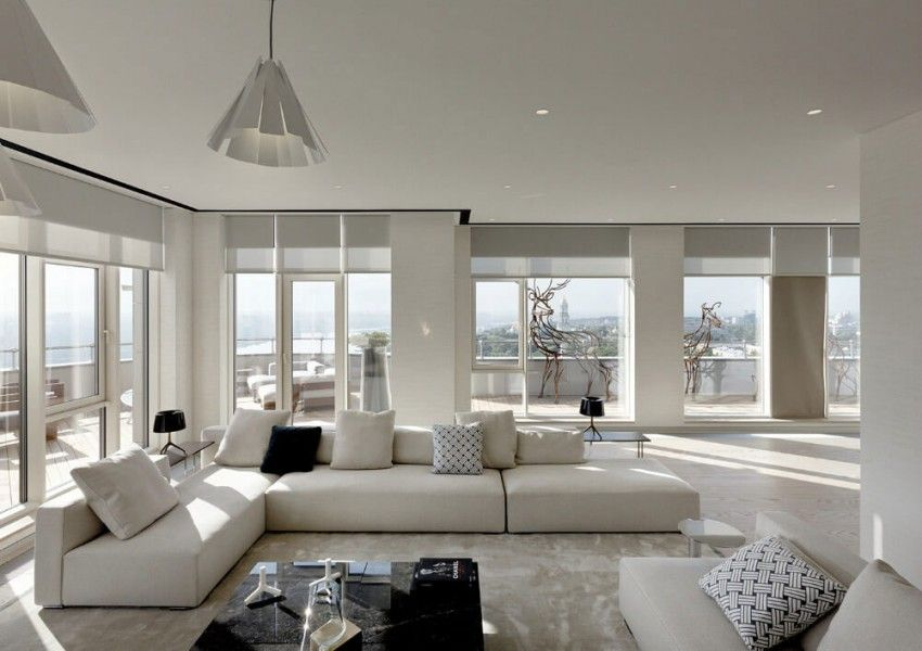 Minotti london red button development work together to design an elegant contemporary - Appartement contemporain kiev ...