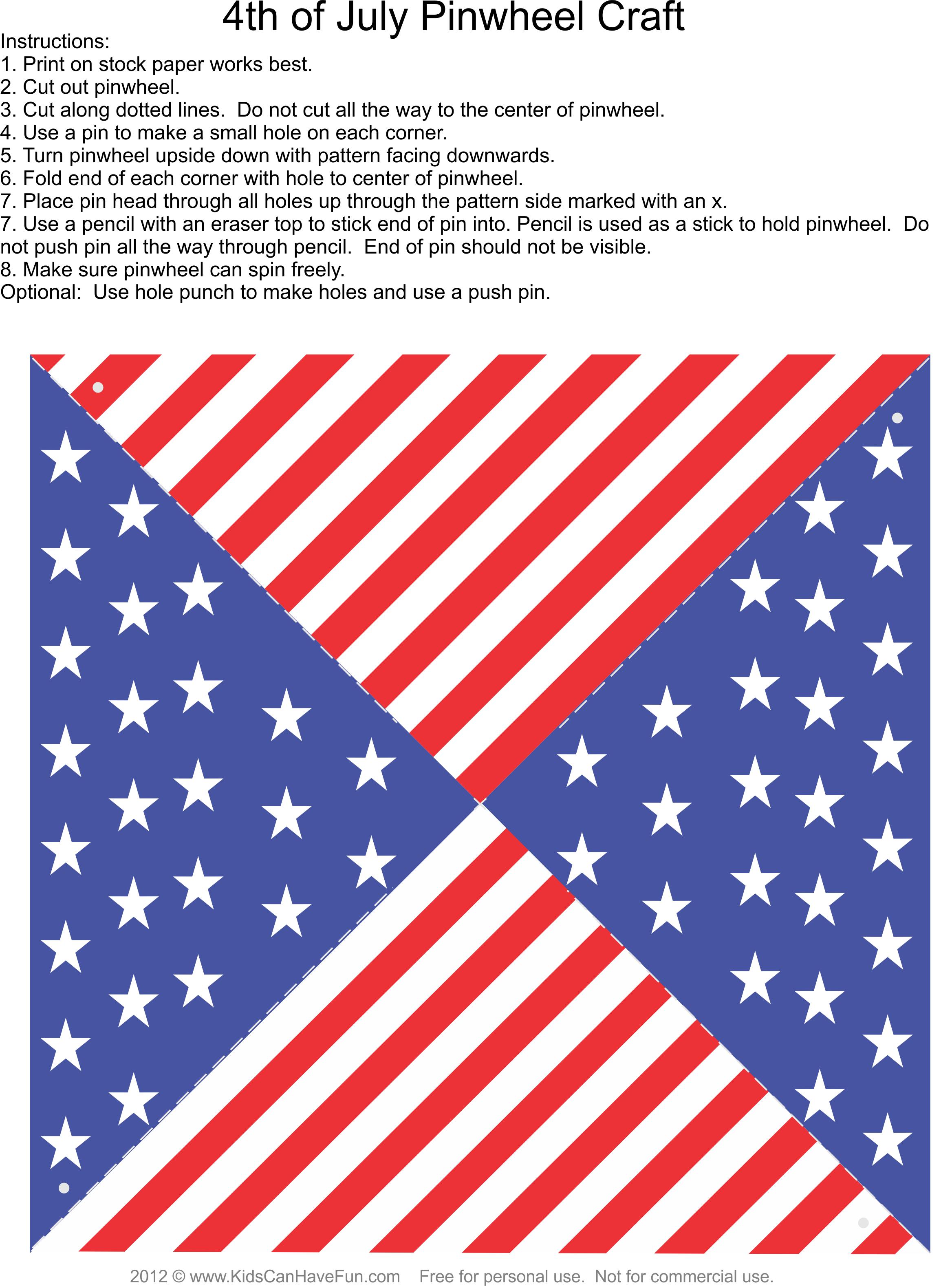 4th Of July Pinwheel Craft 4thofjuly Independanceday