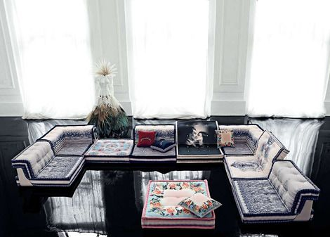 Couture Furniture From Roche Bobois Living Room Design Modern Jean Paul Gaultier Home Interior Design