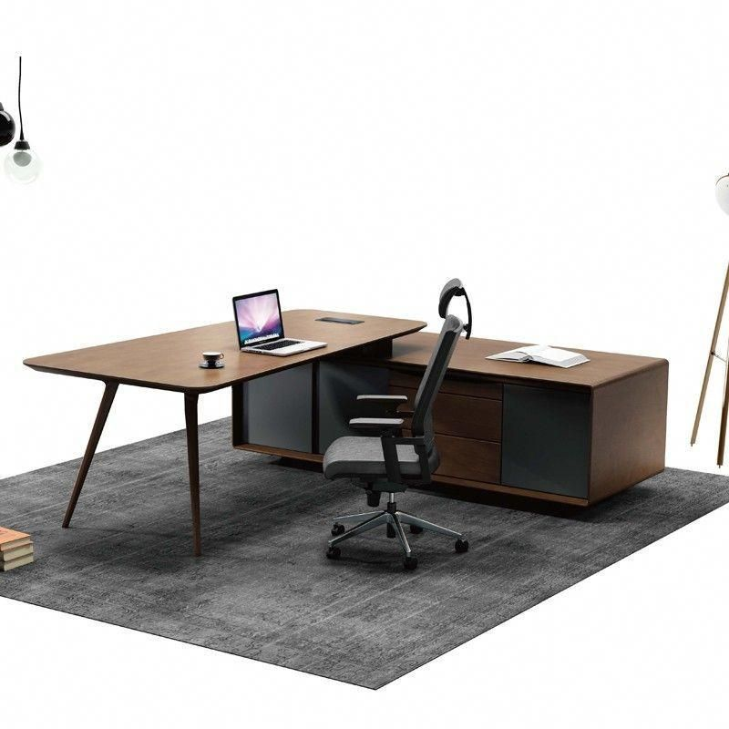 Hot Sale Professional Office Furniture European Style Office Mdf Melamine Panel Executive Professional Office Furniture Office Desk For Sale Modern Office Desk