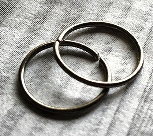 Set of 2 Niobium 22 Gauge Hoop Rings 6mm 12mm DonKatCha