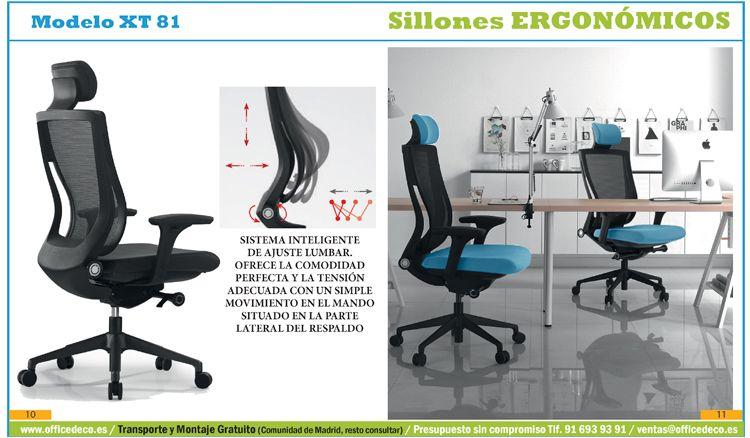 Sillas de oficina madrid silla de escritorio adec siena for Oficinas ono madrid