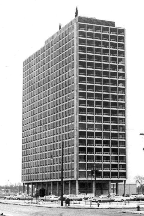 Lafayette Park, Detroit, 1955-1963. Arch. Ludwig Mies Van ...