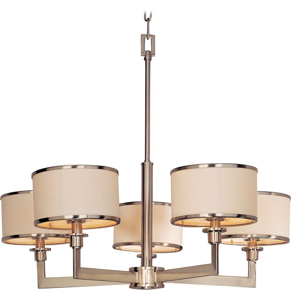 Maxim lighting satin nickel chandelier with drum lamp shades maxim lighting satin nickel chandelier with drum lamp shades 12055wtsn aloadofball Image collections