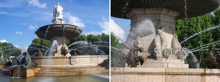 la fontaine de la Rotonde cours Mirabeau à Aix en Provence Bouches du Rhône -PACA France