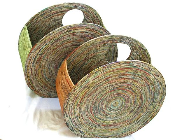 Recycled Crafts How To Recycle Recycled Newspaper Ideas Coiled