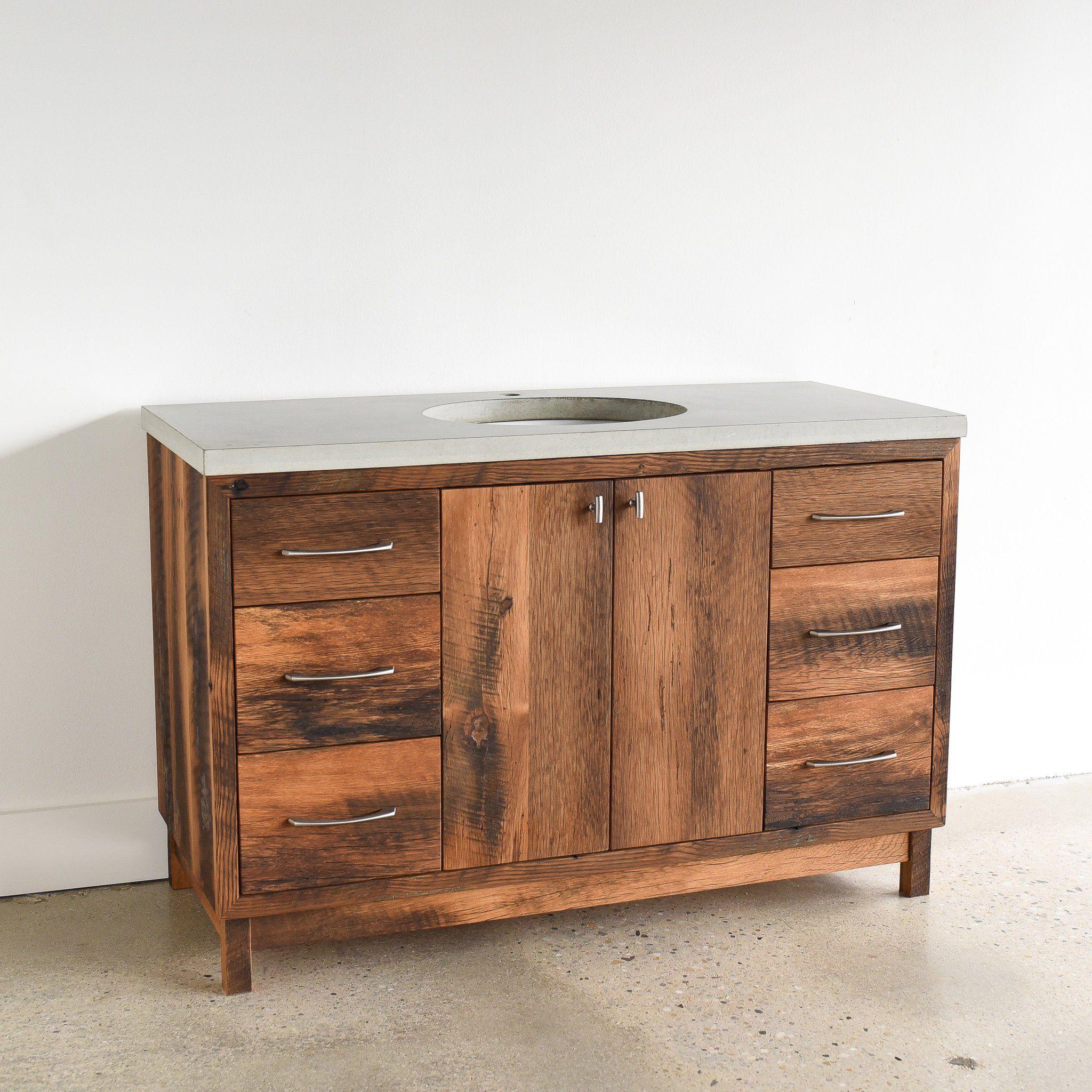 Rustic Bathroom Vanity 48 Reclaimed Wood Storage Console Reclaimed Wood Vanity Wood Vanity Rustic Bathroom Vanities