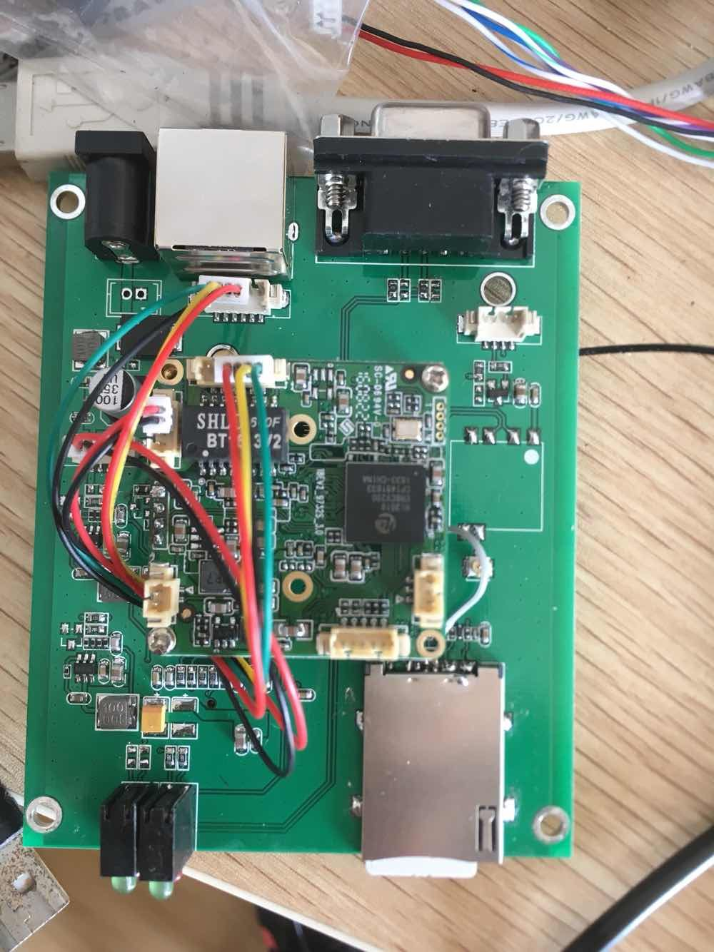 The whole network connect 4g router with serial port to connect the