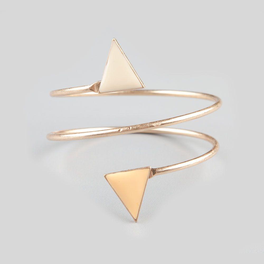 Full tilt sprial coil triangle bracelet bracelets