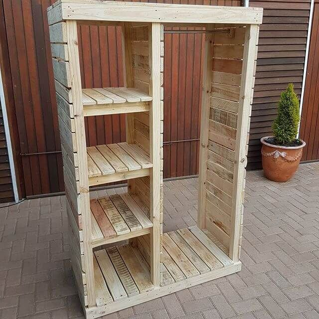 Diy Pallet Storage Racks And Cabinets