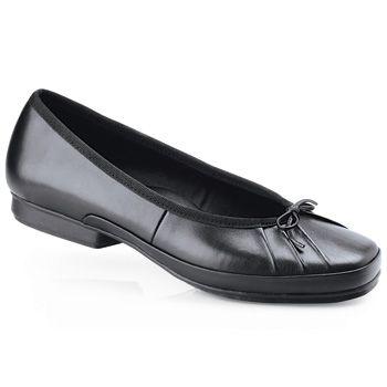 Ballerina II - Black / Women's - Slip Resistant Dress Shoes For ...