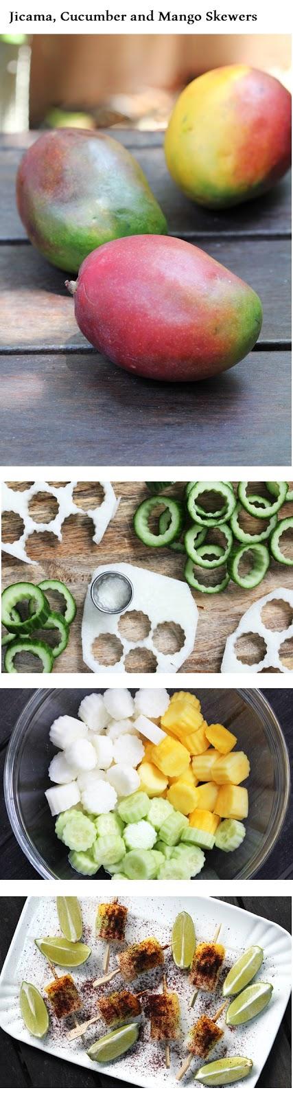 Recipe Sharing Community: Spiced Jicama, Cucumber and Mango Skewers   Recipe Sharing Community