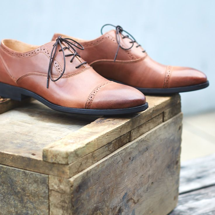 Step up your game in leather oxfords.
