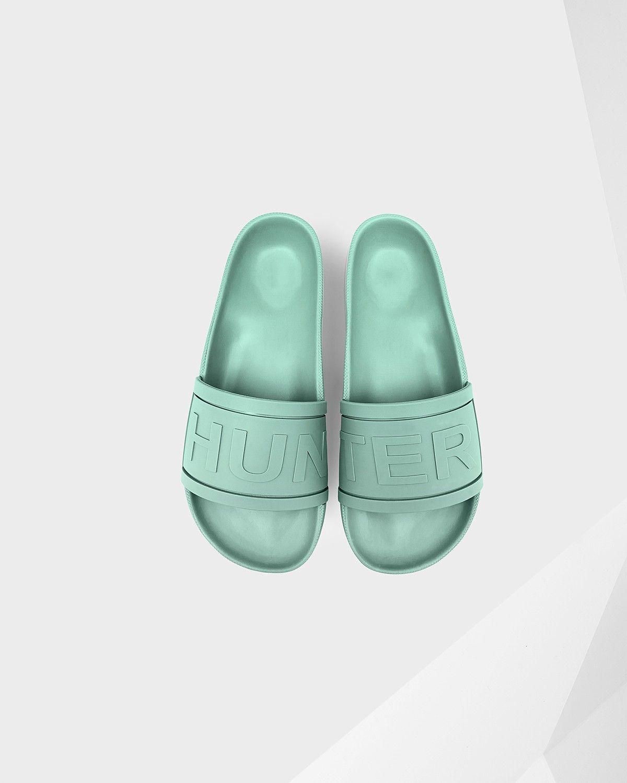 e3555416d5a HUNTER Women s Hunter Slides - LIGHT SUCCULENT.  hunter  shoes ...