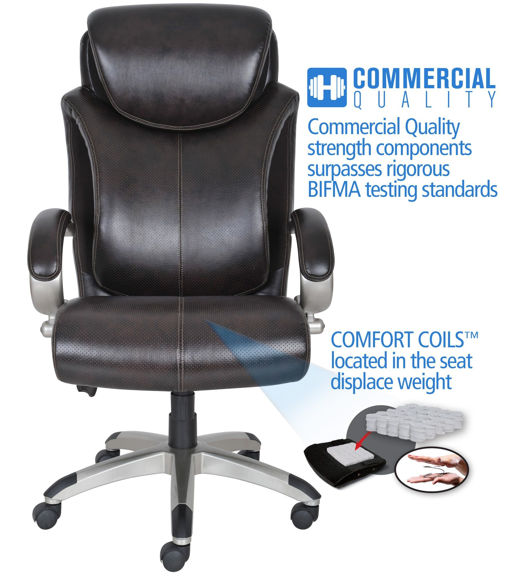 Serta Air Health And Wellness Executive Office Chair Big And Tall