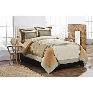 Essential Home 3 Piece Faux Suede Comforter Set Sage Comforter Sets Home Comforters