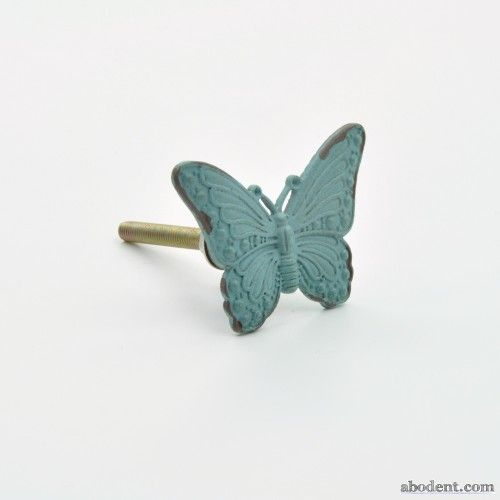 Beloved Butterfly Cupboard Knob | Cast metal vintage butterfly ...