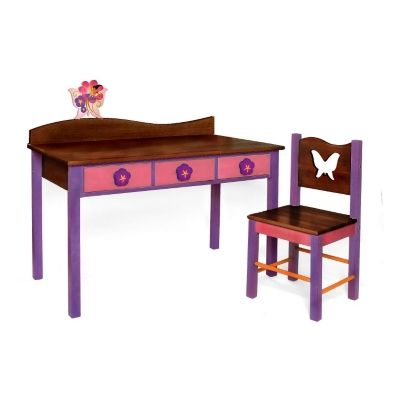 Butterfly Computer Desk and Chair - Chocolate - Children's $379.50