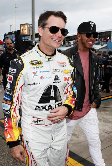 The world champion was in Homestead to visit with Jeff Gordon and to watch his last race.