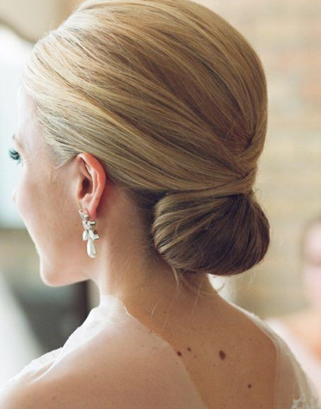 Classic Chignon Updo Hairstyle,Hairstyles for Medium Hair