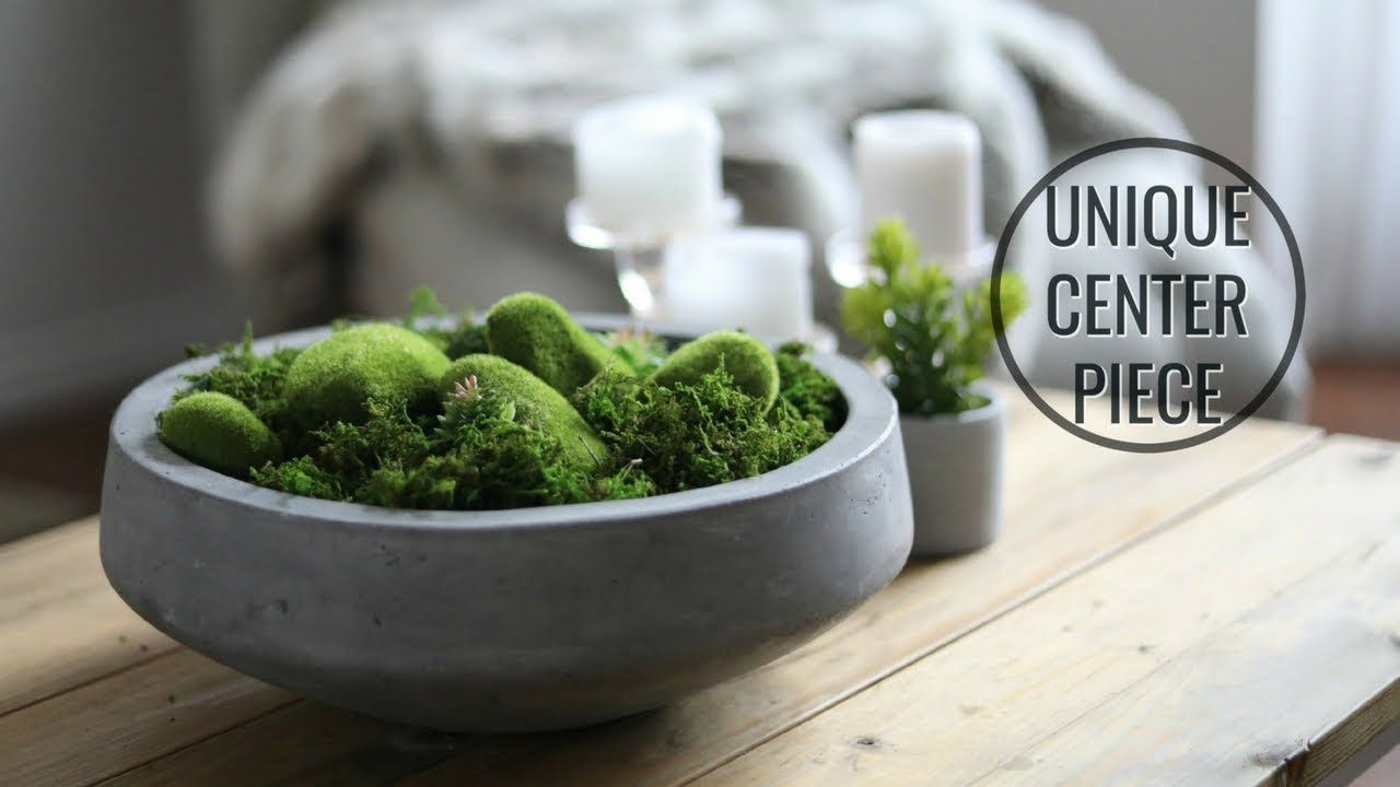 Diy Moss Bowl Centerpiece Youtube In 2019 Moss