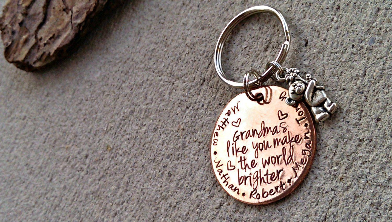 Personalized Keychain  Grandma Keychain  Mommy by SweetAspenJewels, $21.00